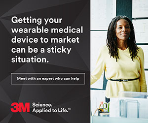 3M - Getting your wearable medical device to market can be a sticky situation.