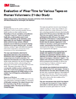 Evaluation of Wear Time for Various Tapes on Human Volunteers: 21-day Study