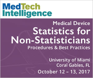 Medical Device Statistics for Non-Statisticians - October 12-13, 2017 - University of Miami, Coral Gables, FL
