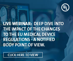 UL - Live Webinar: Deep Dive Into the impact of the Changes to the EU Medical Device Regulations - A Notified Body Point of View