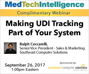 Making UDI Tracking Part of Your Systems - September 26, 2017 - 1:00pm EDT