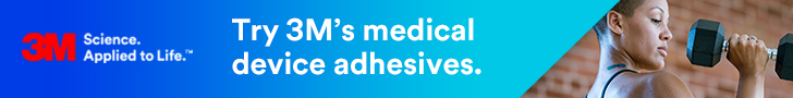 3M - Try 3M's medical device adhesives.