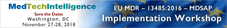 Save the Dates! - EU MDR - 13486:2016 - MDSAP: Implementation Workshop - November 27-28, 2018 - Washington DC