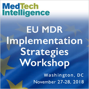 Save the Dates! - EU MDR Implementation Strategies Workshop - November 27-28, 2018 - Washington DC