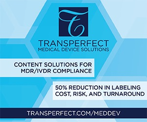 TransPerfect Medical Device Solutions - Content Solutions for MDR/IVDR Compliance