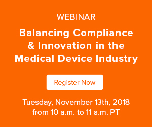 Jama Software - Balancing Compliance & Innovation in the Medical Device Industry Webinar - 11/13/18 - 10am PT