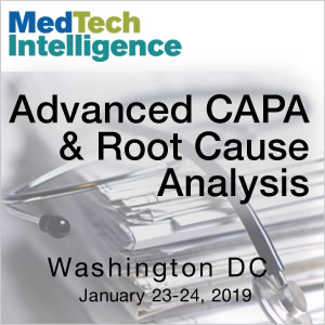 Advanced CAPA & Root Cause Analysis Conference - January 23-24, 2019 - Washington, DC