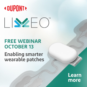 Dupont - Liveo™ Complimentary Webinar - Enabling Smarter wearable patches - October 13