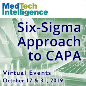 Six-Sigma Approach to CAPA - Virtual Events - October 17 & 31, 2019