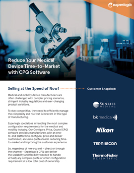 Datasheet: Reduce Your Medical Device Time-to-Market with CPQ Software