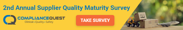 Compliance Quest - 2nd Annual Supplier Quality Maturity Survey