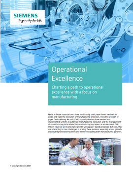 Charting a path to operational excellence with a focus on manufacturing