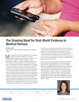 The Growing Need for Real-World Evidence in Medical Devices
