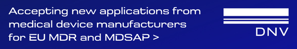 DNV - Accepting new applications from medical device manufacturers for EU MDR and MDSAP>