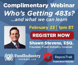 Repositrak - Complimentary Webinar - Who's Getting 483's? - February 23, 2017 - 1:00pm ET