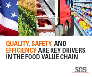 SGS - Quality, Safety, and Efficiency are Key Drivers in the Food Value Chain
