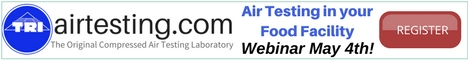 Tri Air Testing - Air Testing in your Food Facility Webinar - May 4th!