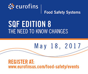 Eurofins - SQF Edition 8: The Need to Know Changes - May 18, 2017