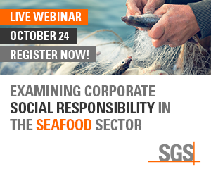 SGS - Examining Corporate Social Responsibility in the Seafood Sector - Live Webinar - October 24 - Register Now!