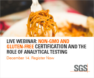 SGS - Live Webinar: Non-GMO and Gluten-Free Certification and the Role of Analytical Testing