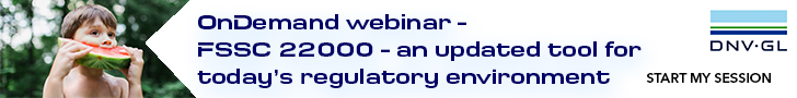 DNV-GL - OnDemand Webinar - FSSC 22000 - an updated tool for today's regulatory environment