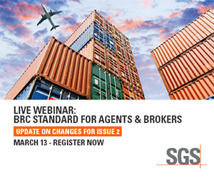 SGS - Live Webinar: BRC Standard for Agents & Brokers - March 13 - Register Now