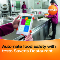 Automate food safety with testo Saveris Resturant.