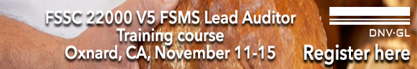 DNV-GL - FSSC 22000 V5 FSMS Auditor/Lead Auditor Training Course
