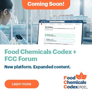 Coming Soon! Food Chemicals Codex+ FCC Forum