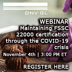 Webinar: maintaining FSSC 22000 certification through the COVID-19 crisis