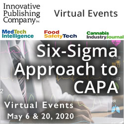 Six Sigma Approach to CAPA Virtual Workshop - May 6 & 20, 2020