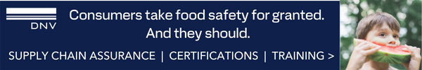 DNV - Consmers take food safety for granted. And they should.