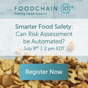 FoodchainID - Smarter Food Safety Webinar - July 8, 2020 - 2pm EDT