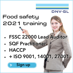 DNV GL - Food safety 2021 training