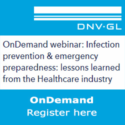 DNV GL - OnDemend webinar: Infection prevention & emergency preparedness: lessons learned from the Healthcare industry