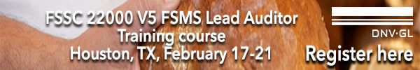 DNV-GL - FSSC 22000 FSMS Auditor/Lead Auditor Training Course