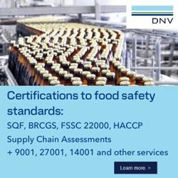 DNV - Certifications to food safetystandards: SQF, BRCGS, FSSC 22000, HACCP