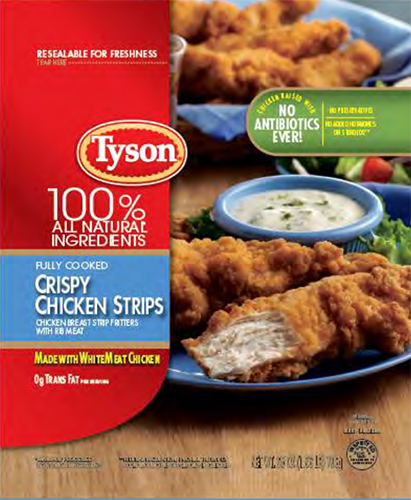 Tyson Recall of RTE Chicken Strips Hits 11.8 Million Pounds