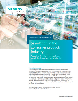 Simulation in the consumer products industry